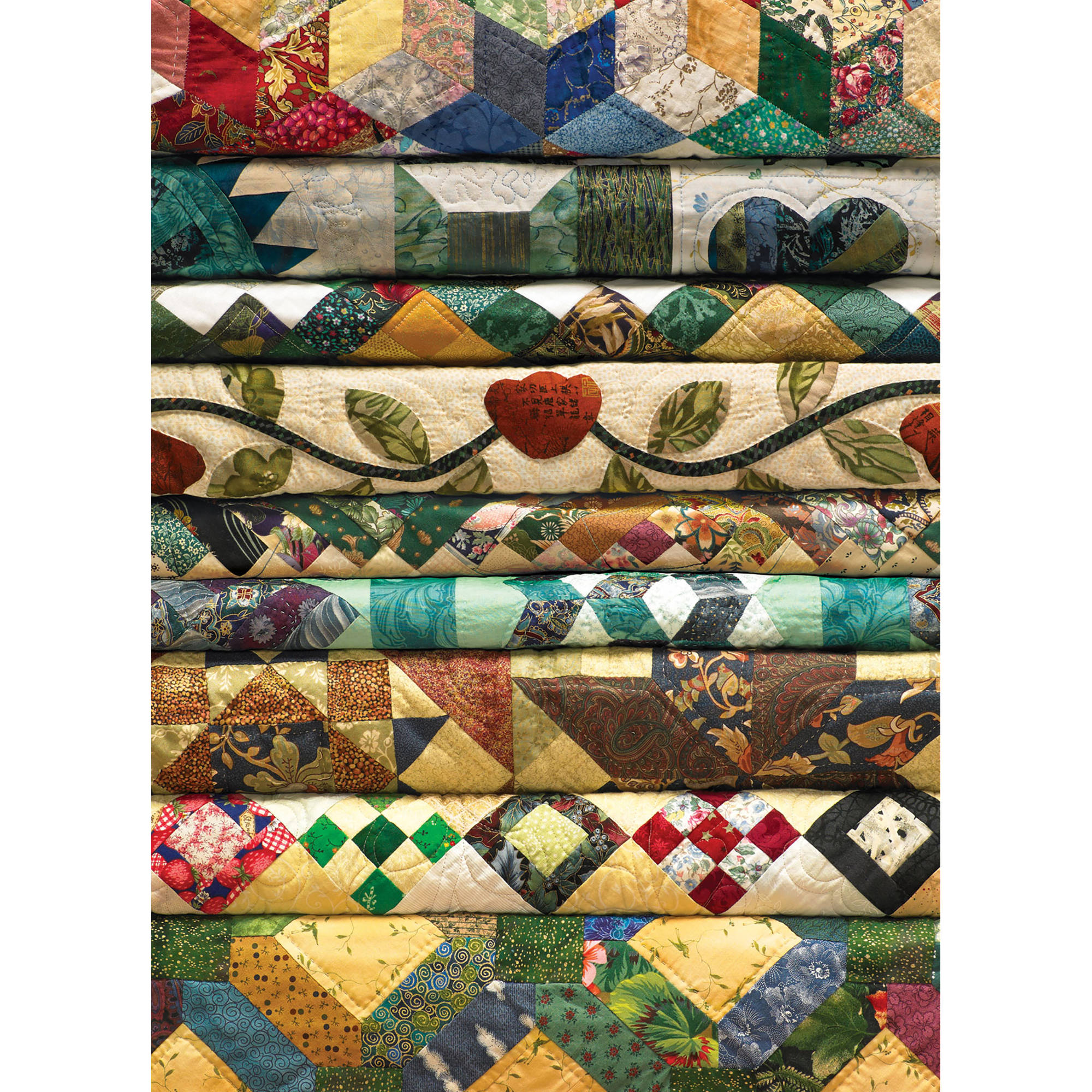 Cobble Hill: Grandmas Quilts 1000 Piece Jigsaw Puzzle by Outset Media