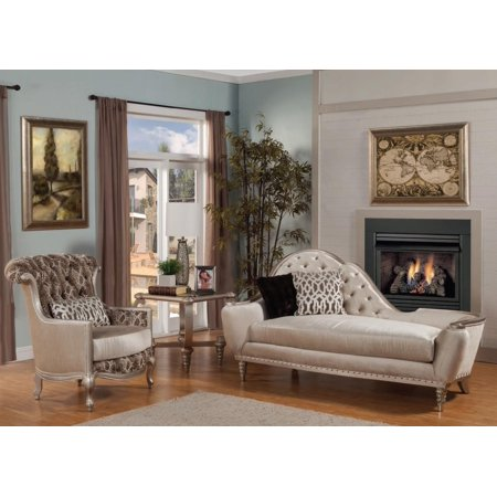 Benetti Sofia Lilliana Luxury Golden Pearl Chenille Chaise Lounge Set 3 Sp Order