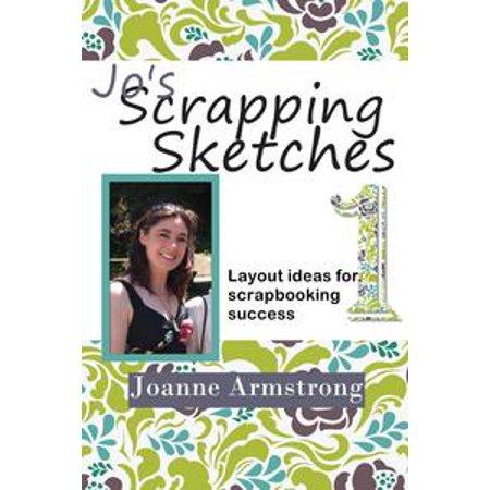 Jo's Scrapping Sketches: Layout Ideas for Scrapbooking Success Vol. 1 - eBook - Best Halloween Scrapbook Layouts