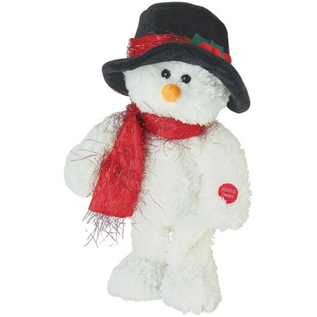 Chantilly Lane Walter the Snowman Frosty the Snowman, White, Black Hat