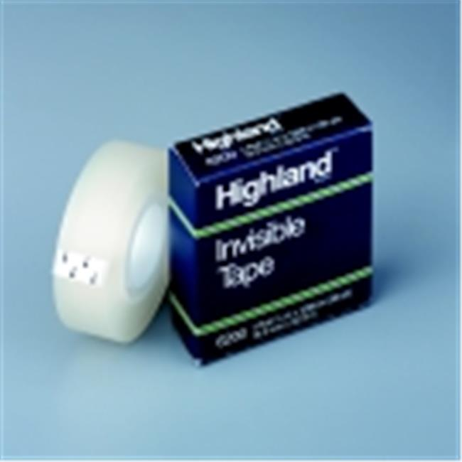 Highland 0. 5 inch x 36 Yard Invisible Tape, Pack - 12
