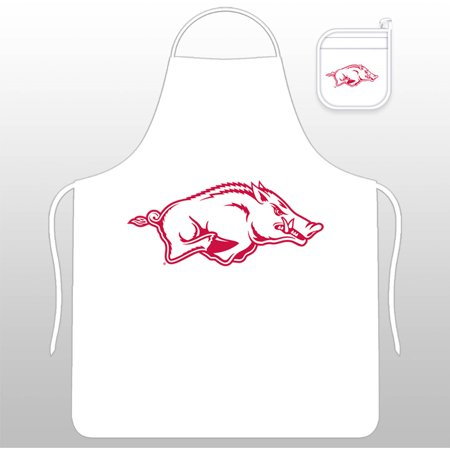 NCAA University of Arkansas Tail Gate Kit with Apron and Mitt