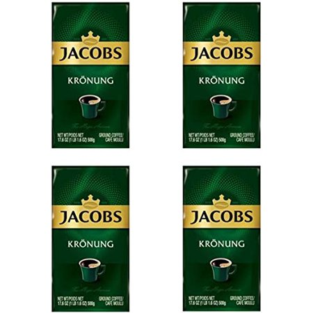 Jacobs Kronung Ground Filter Coffee 500 Gram / 17.6 Ounce ( 4 Pack )