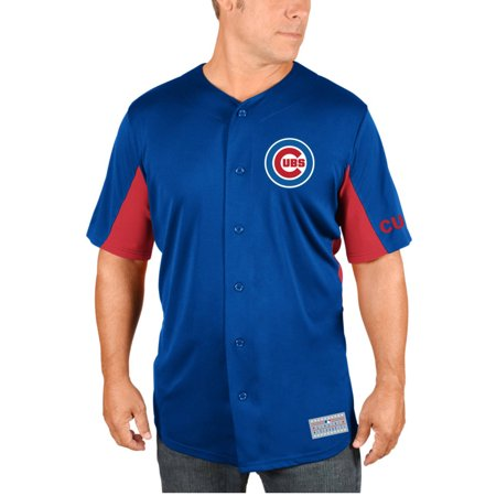 Mlb Chicago Cubs Anthony Rizzo Big Mens Short Sleeve Button Jersey  2Xl