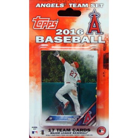 Anaheim Angels Cap - Anaheim Angels 2016 Topps Factory Sealed Special Edition 17 Card Team Set with Mike Trout and Albert Pujols Plus