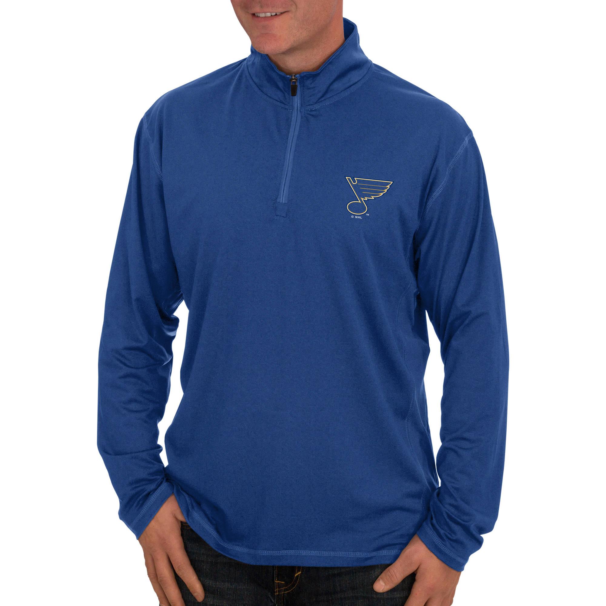 NHL St. Louis Blues, Men's Quarter-Zip Fitness Jacket