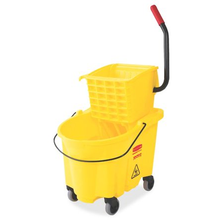 Wringer System - Rubbermaid Commercial Products WaveBrake Mop Bucket with Wringer