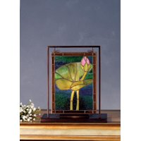 Pond Lily Lighted Mini Tabletop Window