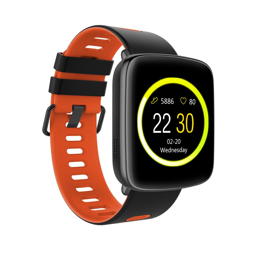 TechComm GV68 Water Resistant Smartwatch & Fitness Activity Tracker With Heart Rate Monitor