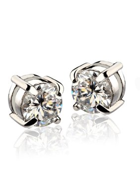 b999d8b86 Product Image Bling Men 8mm White Gold Plated CZ Earrings