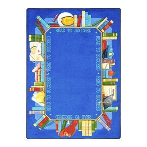 Joy Carpets Read to Succeed Educational Rug 7-ft 8-in 10-ft 9-in - Reading Rug