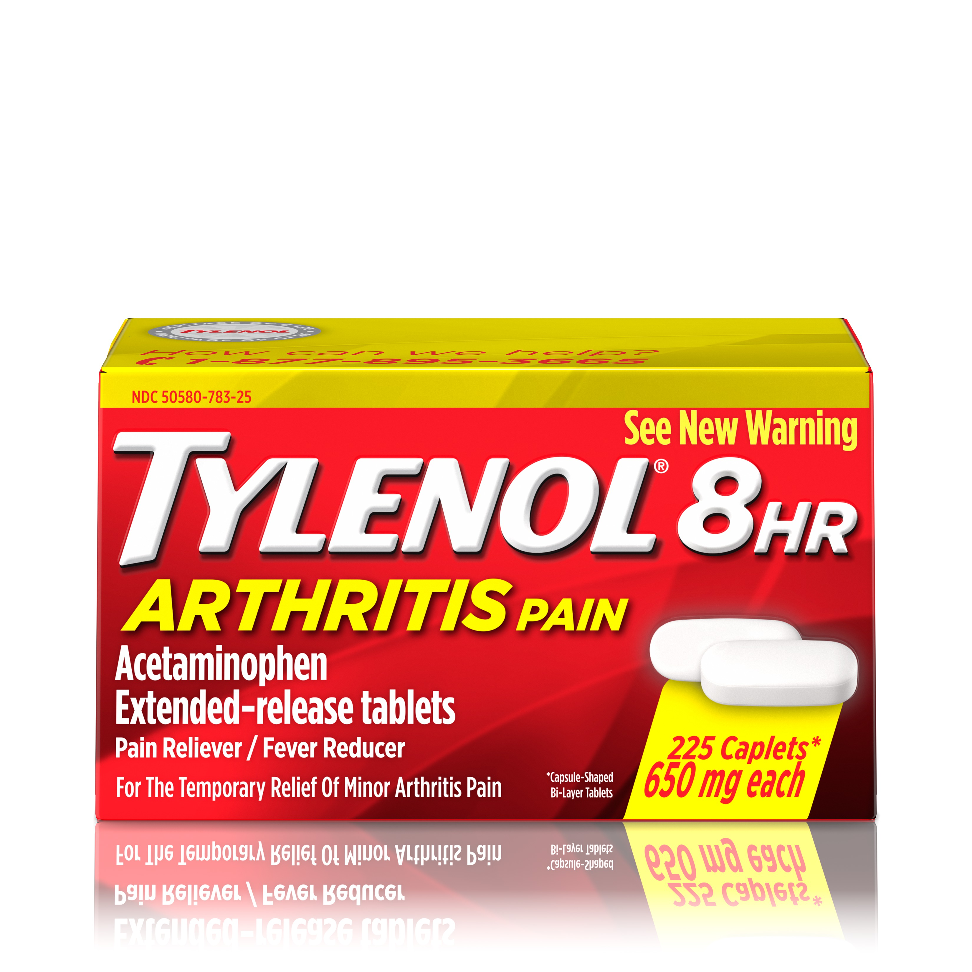 TYLENOL® 8 HR Arthritis Pain Extended Release Caplets, Pain Reliever, 650 mg, 225 ct.