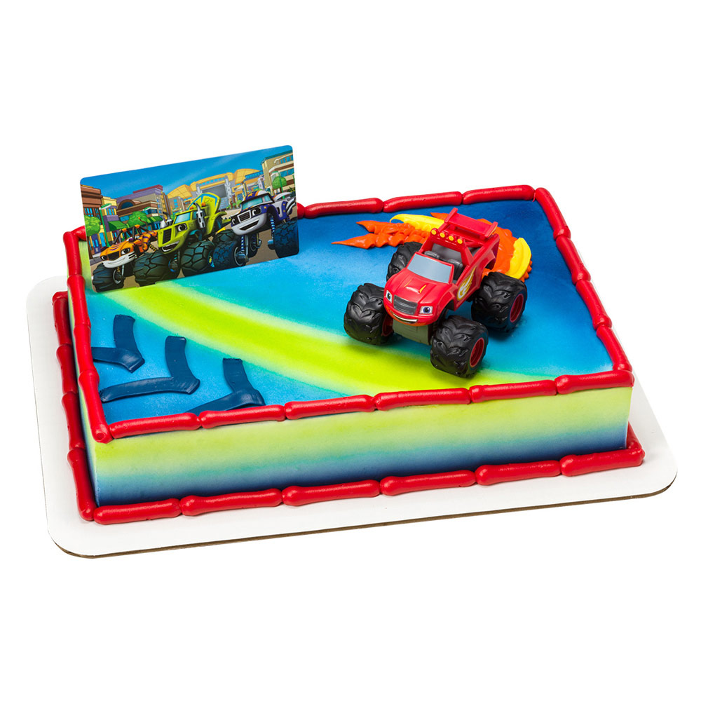 Blaze And The Monster Machines Cake Decoration Set Walmart