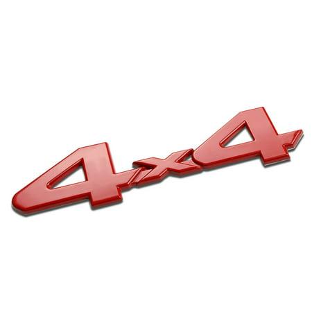 3D Letter Metal Emblem 4x4 Badge (Red) - Type2