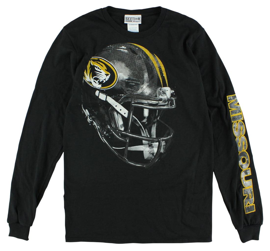 Section 101 Mens Missouri Tigers Reflective Long Sleeve T Shirt Black