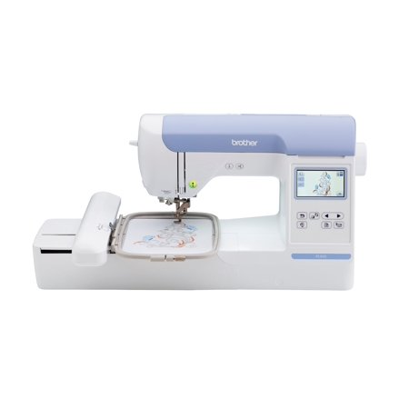 "Brother PE800, 5""x7"" Embroidery-only machine with color touch LCD display, 138 built-in embroidery designs and 6 lettering"