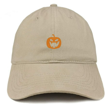 a7146222 ... 1b28fea9ebb Trendy Apparel Shop Jack O Lantern Pumpkin Embroidered  Brushed Cotton Dad Hat - Digital Green ...