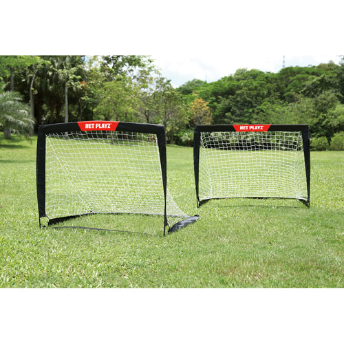 Net Playz 4'x3' Soccer Goal Easy Fold-Up Training Goal, Set of 2