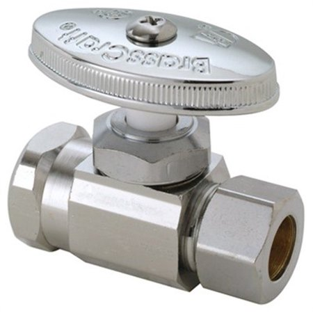 Brass Craft Service Parts OR32X CD Straight Stop Valve, Chrome, 1/2 FIP x -