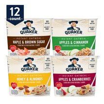 Oatmeal: Quaker Instant Cups