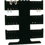 24 Pair Earring Necklace Bracelet T-Bar Black Display