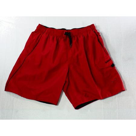 SPEEDO NEW Red Bluff Mens Size Large L Swim Trunks Board Surf Shorts Diamana Red Board
