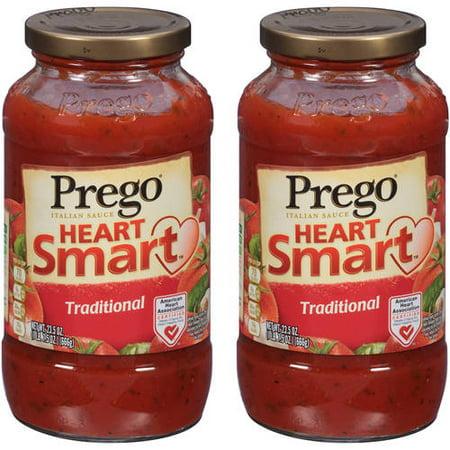 (2 Pack) Prego Lower Sodium Traditional Italian Sauce, 23.5 (Best Low Sodium Pasta Sauce)
