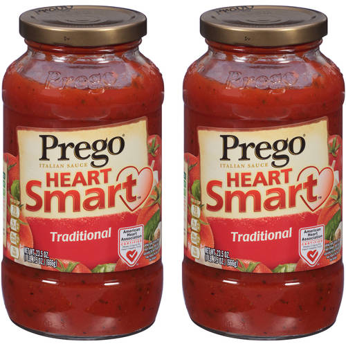 Prego Heart Smart Traditional Italian Sauce, 23.5 oz (Pack of 2)