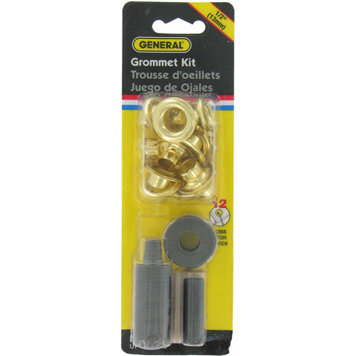 "General Tools 71264 12-Count 1/2"" Brass Grommet Kit"