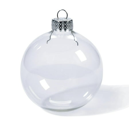 Painting Glass Ball Ornaments - Darice Clear Glass Ornaments: 70mm Glass Balls, 6 pack