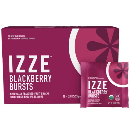 IZZE Bursts Organic Fruit Snacks, Blackberry, 18 ct, 0.8 oz
