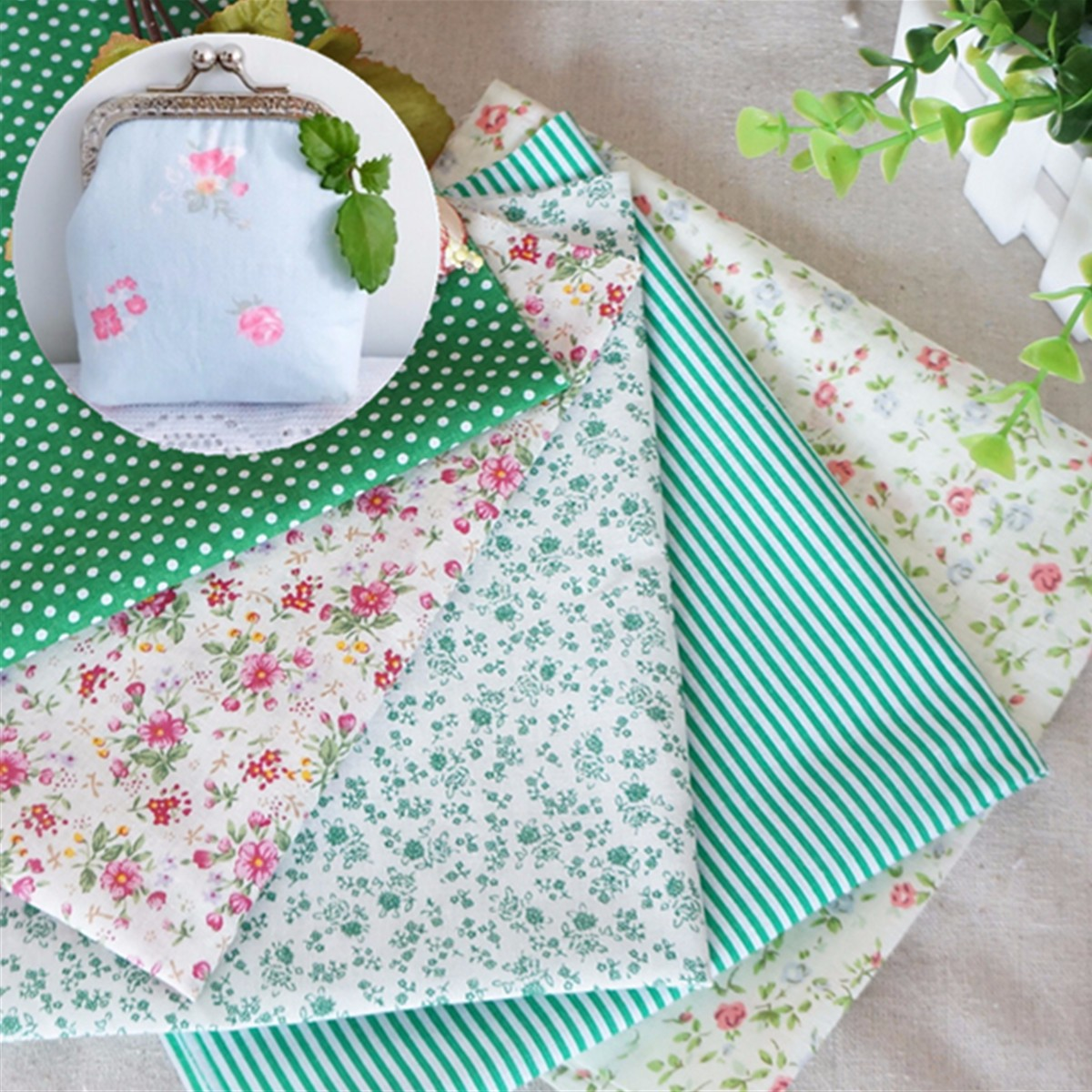 16Pcs/Set Quilting Fabric Floral Cotton Cloth DIY Craft Sewing Handmade Accessory 25 x 40cm Christmas Gift DIY Material