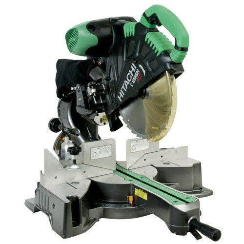 Factory-Reconditioned Hitachi C12RSHR 12 in. Sliding Dual Compound Miter Saw with Laser Marker (Refurbished) by