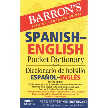 Barrons Spanish English Pocket Dictionary   Diccionario De Bolsillo Espanol Ingles  70 000 Words  Phrases   Examples Presented In Two Sections  American Style English To Spanish   Spanish To English