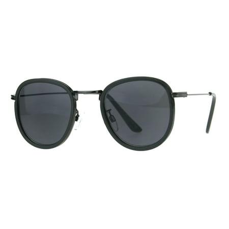 Retro Round Double Rim Sun Reader Sunglasses Reading Glasses Gunmetal Black  2.5 805734e708f7