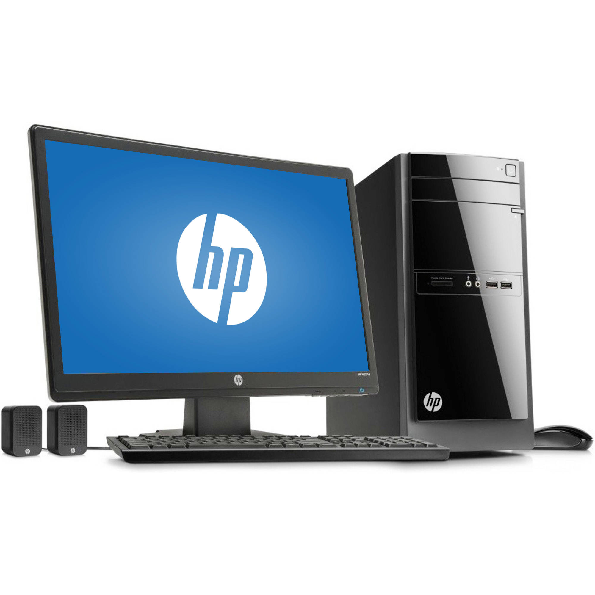 "HP 110-243wb Desktop PC with AMD A4-5000 Quad-Core Processor, 8GB Memory, 21.5"" Monitor, 1TB Hard Drive and Windows 8.1 (Free Windows 10 Upgrade before July 29, 2016)"