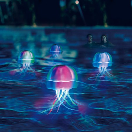 Waves Aqua Swimming Summer Floating Glow Pool Jellyfish Led Light dWrBoeCEQx