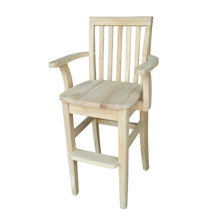 International Concepts Mission Kids' Chair with Arms, (Unfinished Desk Chair)