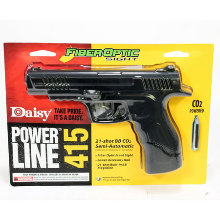 Daisy 5415 Powerline 415 Pistol Kit Semi-Automatic CO2 .177 BB 21 (Best Co2 Bb Pistol)