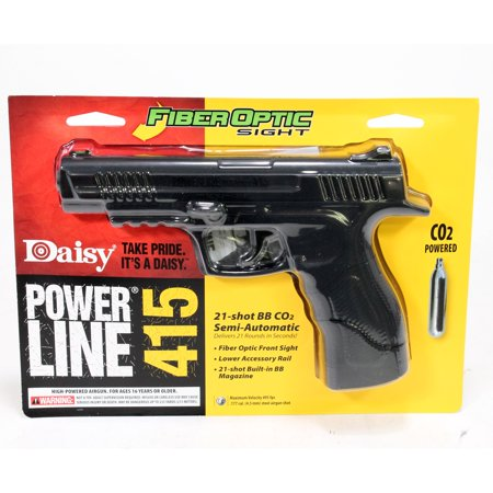 Black Semi Automatic Gun - Daisy 5415 Powerline 415 Pistol Kit Semi-Automatic CO2 .177 BB 21 rd