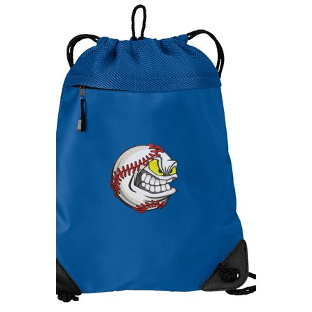 Baseball Cinch Backpack Baseball Fan Drawstring Bag String Pack Mesh & Microfiber - Two Sections](Mesh Drawstring Backpack)