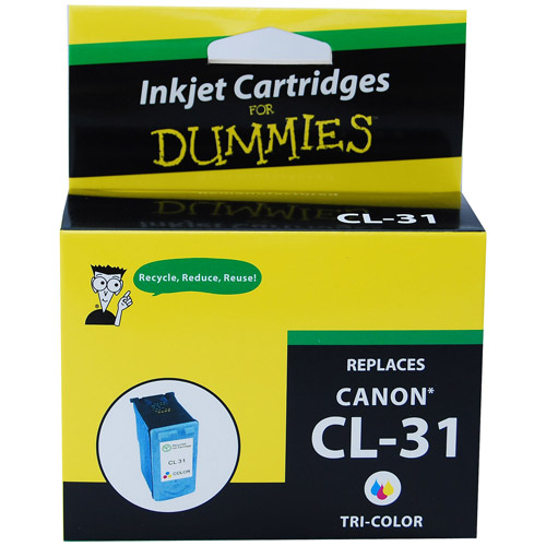 For Dummies - Canon CL-31 Tri-Color Inkjet Cartridge (1900B002), Remanufactured