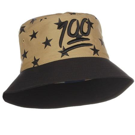 American Cities USA Star 100 Keep it Real Hat Cap Bucket Fisherman Headwear (100 Headwear)