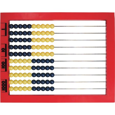 Learning Resources, LRNLER4335, 2-Color Desktop Abacus, 1 (Row Abacus)