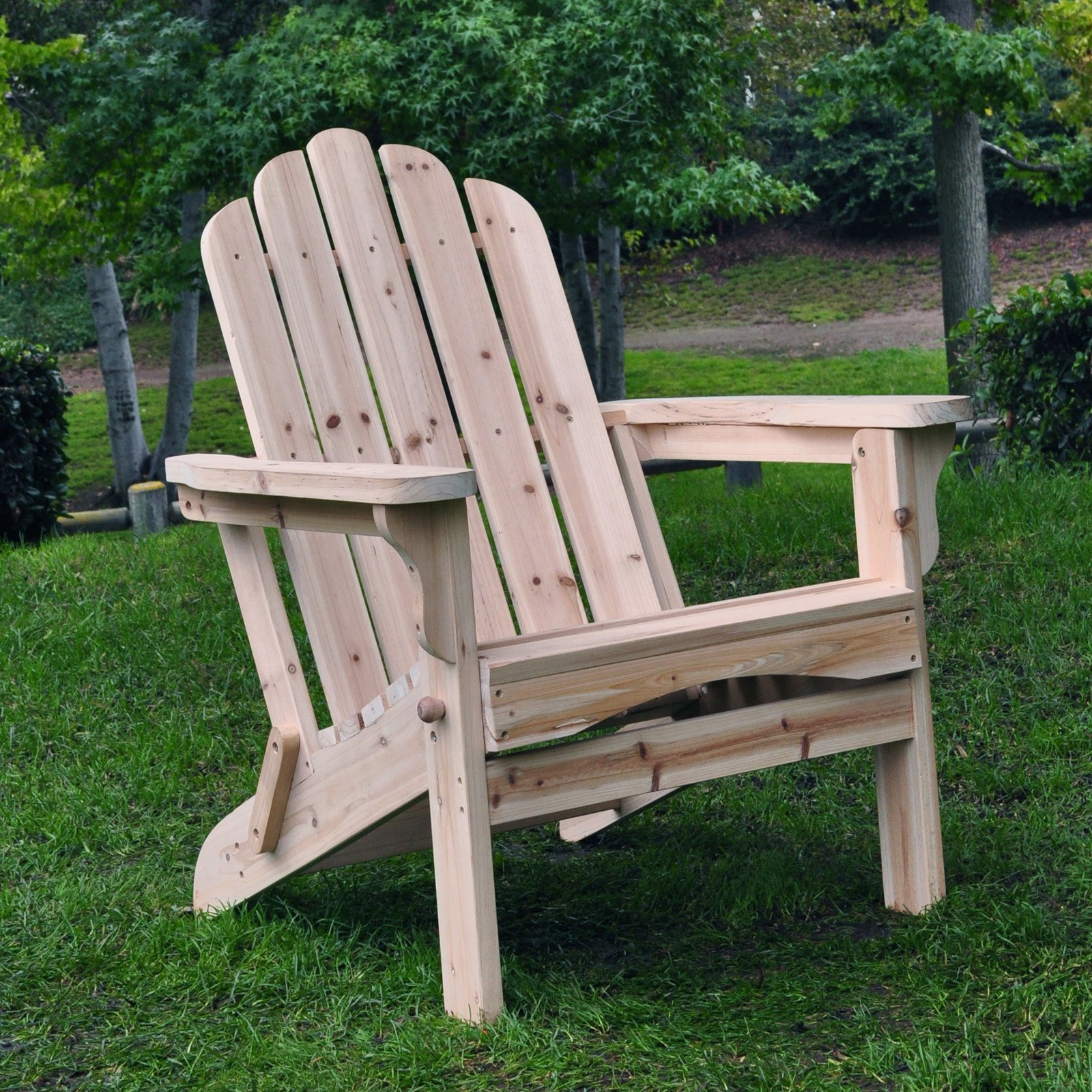 Shine Company Marina Adirondack Folding Chair Natural by Shine Company