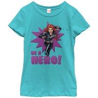 Marvel Girls' Black Widow Be a Hero T-Shirt
