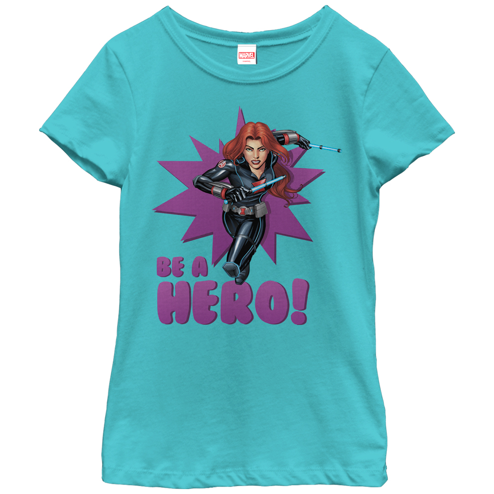 Marvel Girls' Black Widow Be a Hero T-Shirt