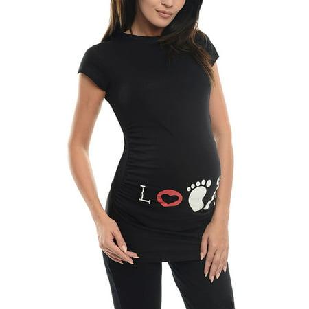 83fd99ecbccfd JMAMIR - JMAMIR Maternity Printed Classic Side Ruched T-Shirt Tops Mama  Pregnancy Clothes - Walmart.com