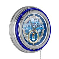 United States Air Force Neon Clock - 14 inch Diameter