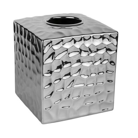 CHROME CRUSH TISSUE BOX COVER ()